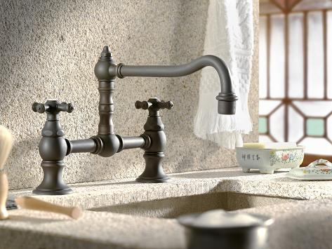 Bridge Kitchen Faucet With Pull Down Spray Sevenstonesinccom - Bridge faucets for kitchen