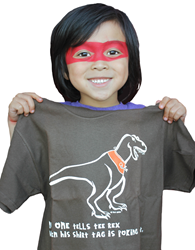 Geeky graphic dinosaur t-shirt for kids by Tees For Your Head