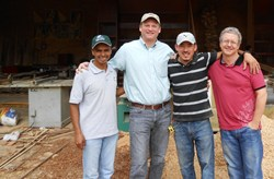From Left: David Lopez  - Coffee Farmer, Greg Ubert – Crimson Cup, Isaac Sanchez – Carpenter, Stephan Erkelens - Axiom Coffee Ventures, LLC