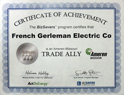 French Gerleman Attains Ameren Missouri's ActOnEnergy BizSavers™ Platinum Trade Ally Status