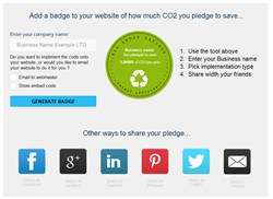 All users need to do is enter how many people work in their office, select the appliances that they utilise when at work and enter their company name to find out just how much in carbon dioxide emissions they can save every year