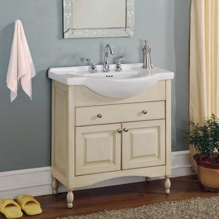 Homethangs Com Has Introduced A Guide To Narrow Bathroom Vanities For A Small Bathroom