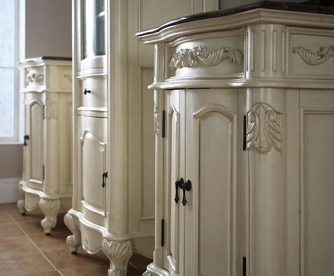 Homethangs Com Has Introduced A Guide To Ornate Antique White Bathroom Vanities