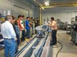 Harris & Bruno International gives students a tour of the Roseville manufacturing facilities.