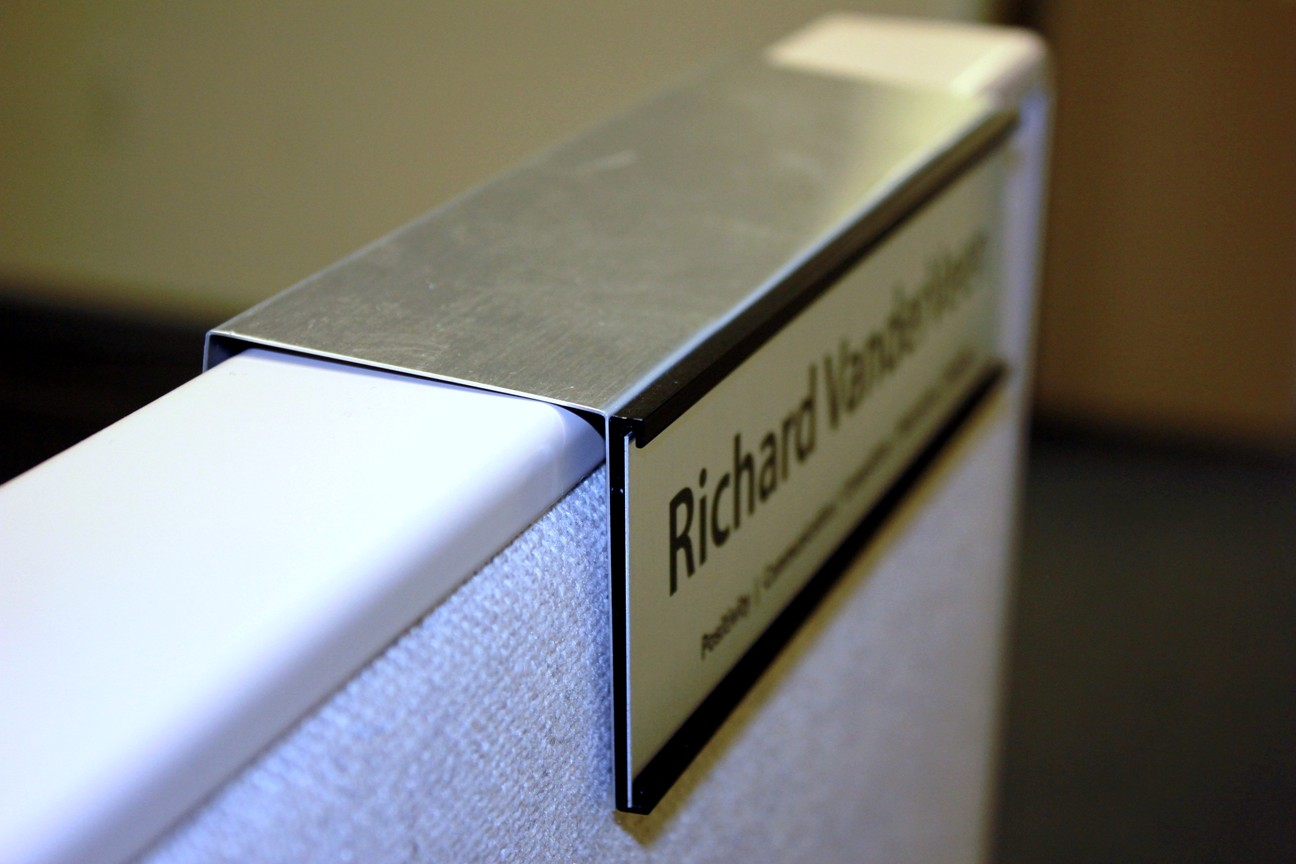 New Changeable Slide In Cubicle Nameplate Holders Created