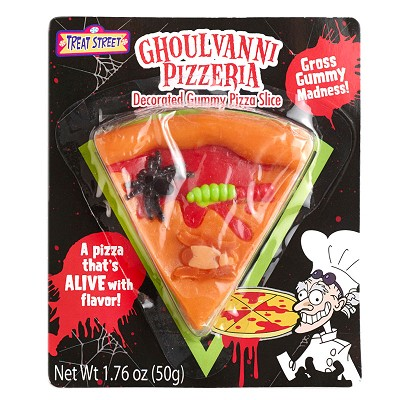 gross gummy halloween pizza halloween candy from stupidcom