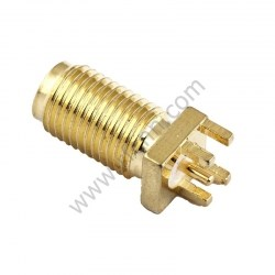 SMA Female For PCB Board Edge Soldering RF Connector