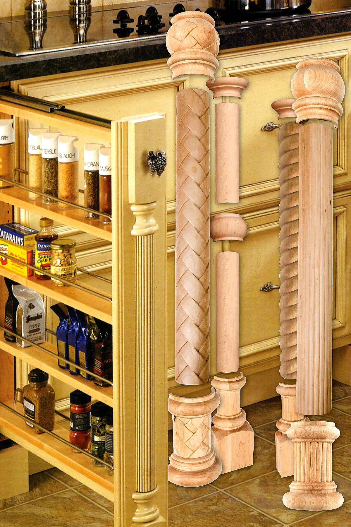 kitchen cabinet columns outwater introduces its updated design a column decorative 18359