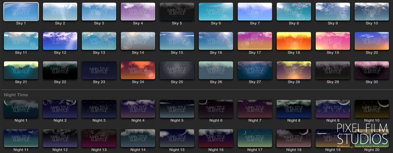 New Sky Text Backdrop Plugin for Final Cut Pro X from Pixel
