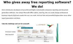 The Windward 30-Day Challenge is a way to get free reporting software