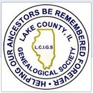 Logo for the Lake County Illinois Genealogical Society