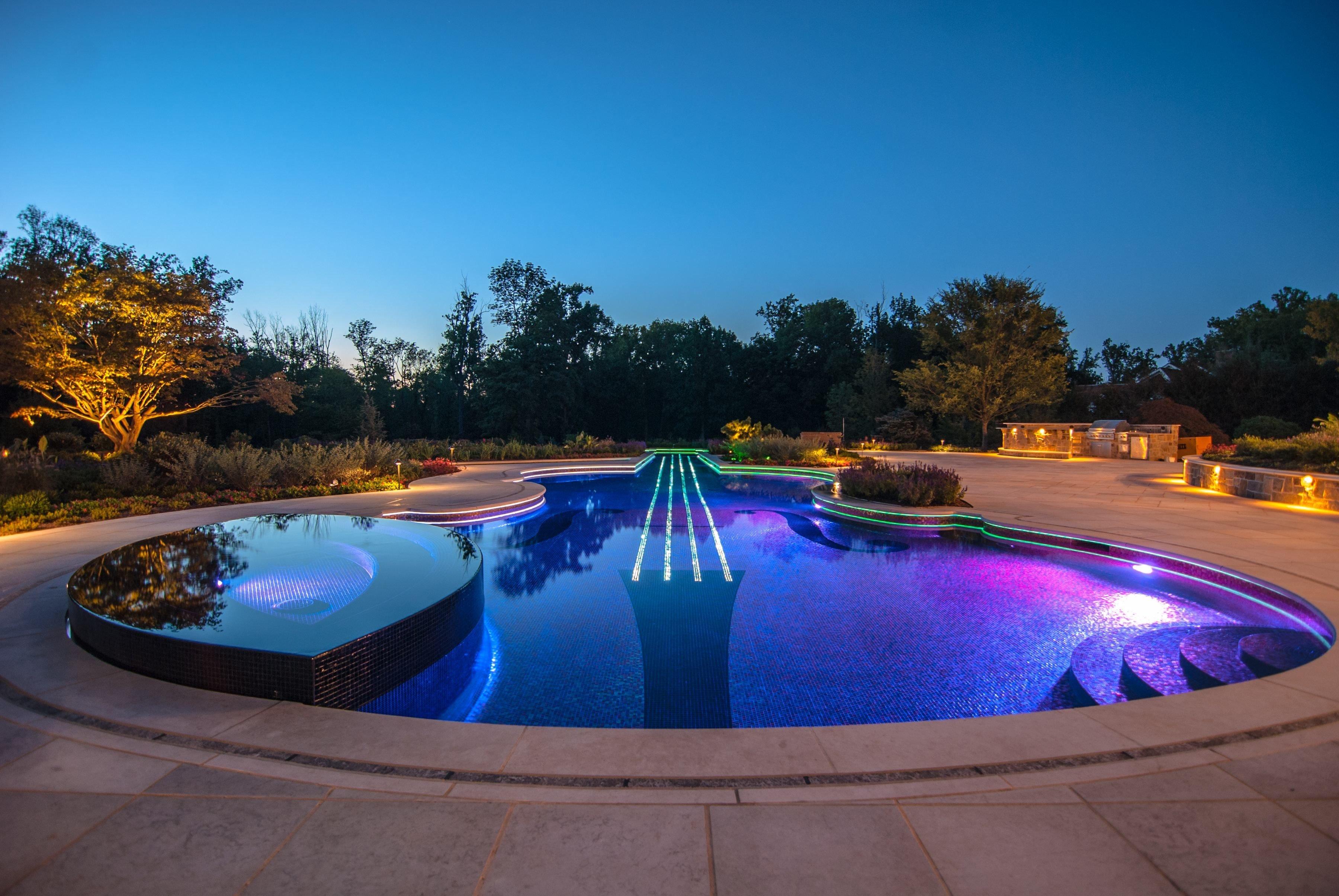 Bergen county nj landscape designer wins 2013 best gunite pool for Pool design images