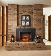"Gallery Insert with 42"" Surround in Masonry Fireplace"