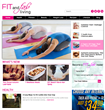 Fit and Fab Living homepage