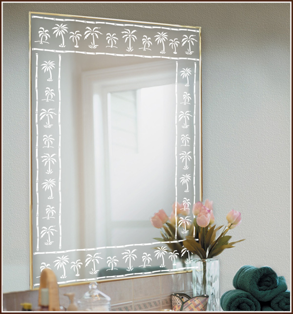 Decorate Mirrors Windows Amp Glass Doors With New Palm Tree