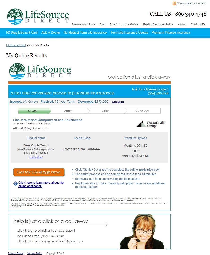 LifeSource Direct Announces a Simplified Quote System for ...