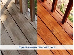 Topeka Deck Cleaning and Staining - Before and After