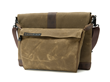 Outback Sleeve with Flap, Strap and Piggyback—horizontal orientation, chocolate brown trim option