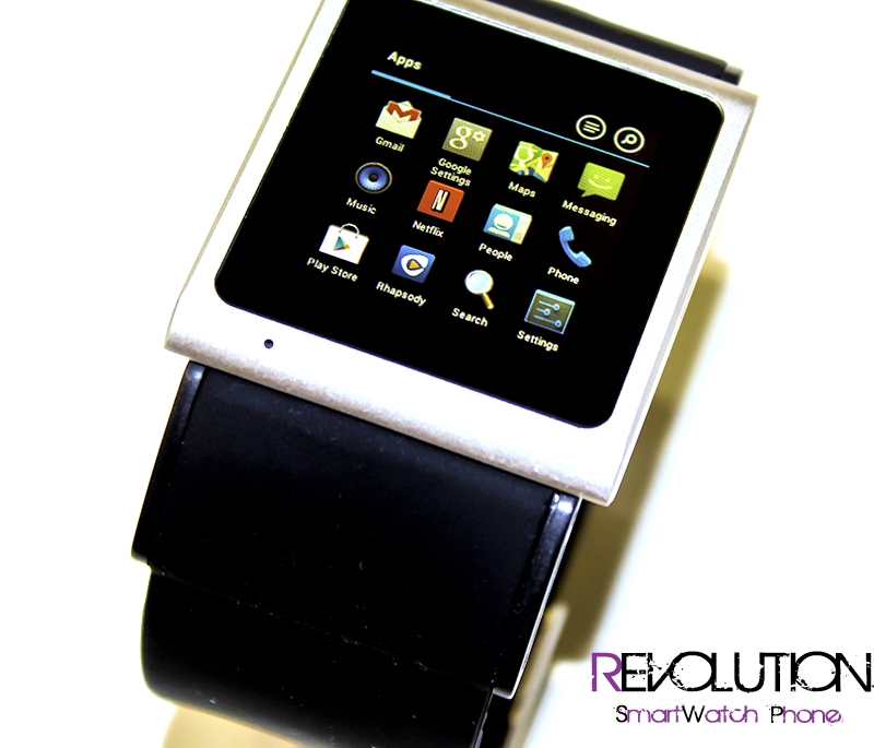 The REVOLUTION Android 4 0 SmartWatch Phone Is the World's