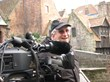 Director of Photography Bill Zarchy—author of Showdown at Shinagawa: Tales of Filming from Bombay to Brazil—shown here shooting on location in Bruges, Belgium