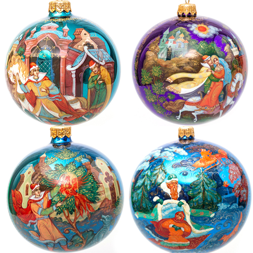 Russian Palekh Christmas Ornaments ... - Russia's Palekh Miniature Painting Craft Goes After Serious