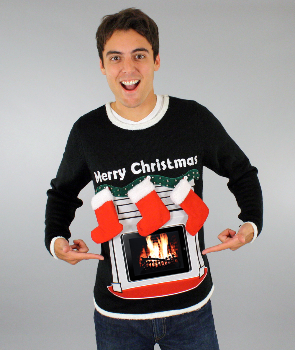 Jimmy Fallon Christmas Sweaters.Jimmy Fallon Selects Newest Skedouche High Tech Fireplace