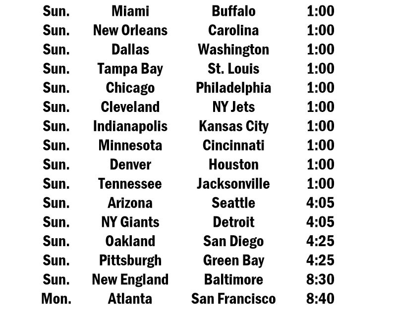 It's just a photo of Nfl Week 14 Printable Schedule pertaining to full screen