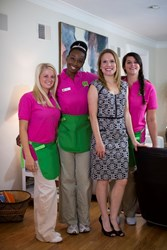 A Better Life Maids house cleaning team with founder and Vice President of Client Experience Angela Ricketts