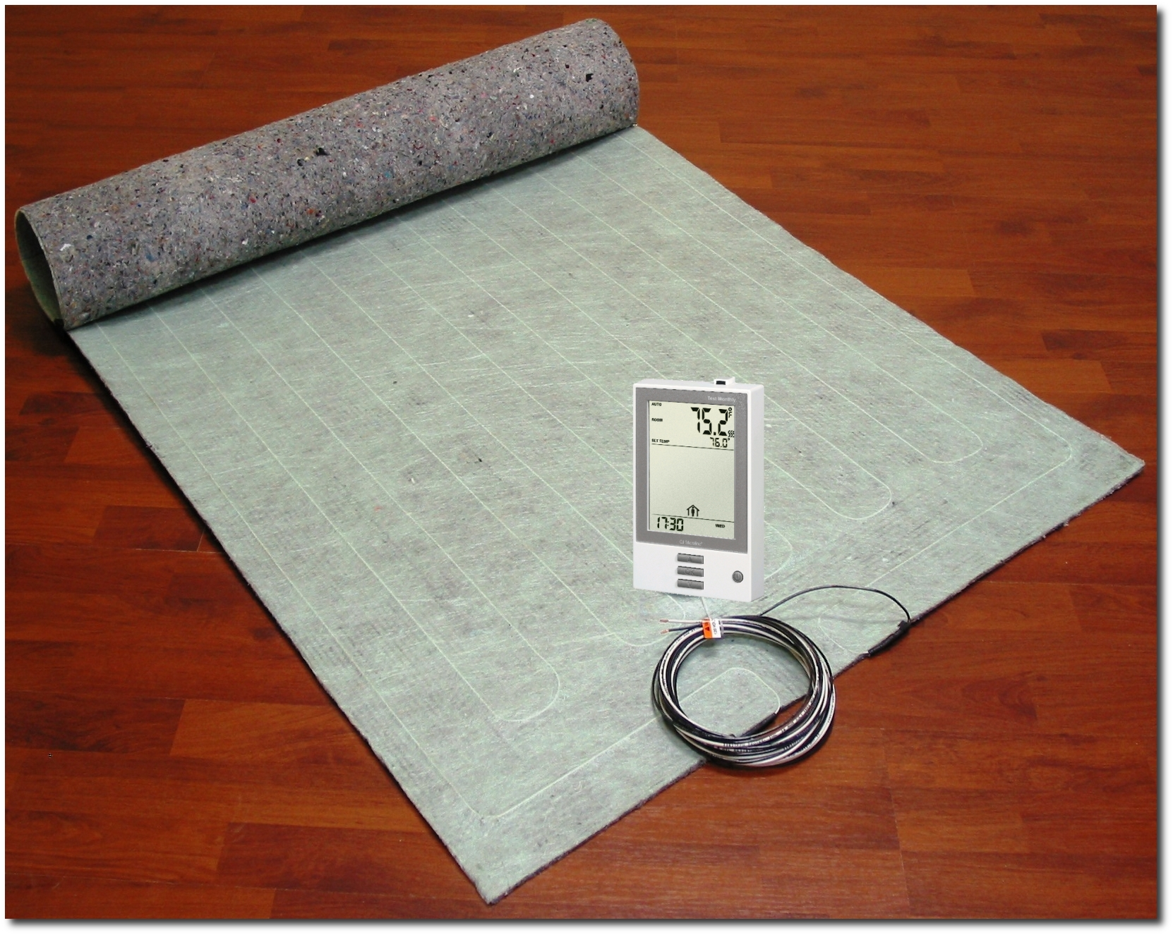 Thermofloor Floor Heating Underlayment Pad For Wood Laminate Floorsthermokit Includes And Thermostat