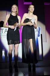 Sydney Graus (left) and Allie Davis (right) share the honors of being awarded IMTA 2014 Model of the Year.