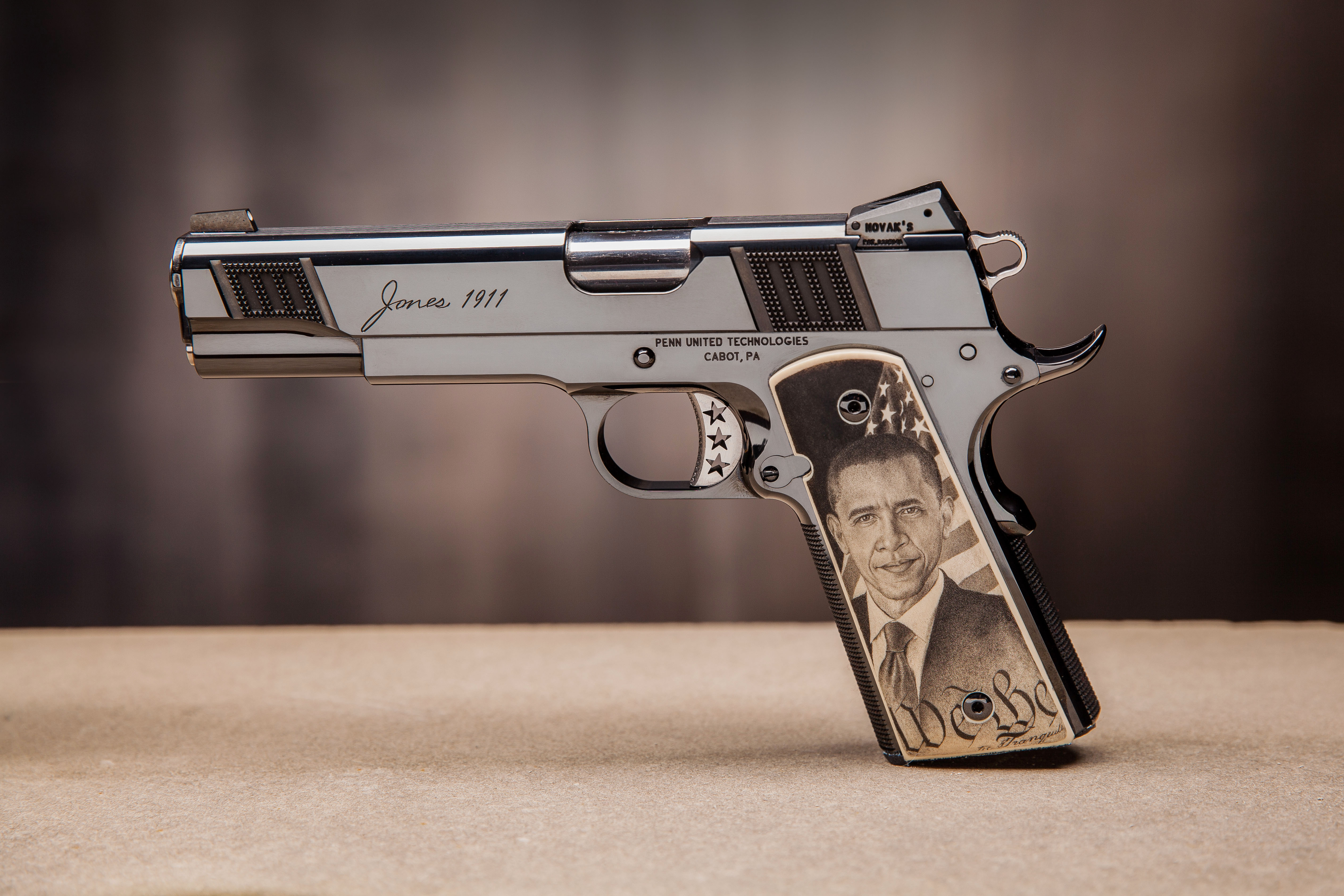 Pistol Set Featuring President Obama And Piers Morgan