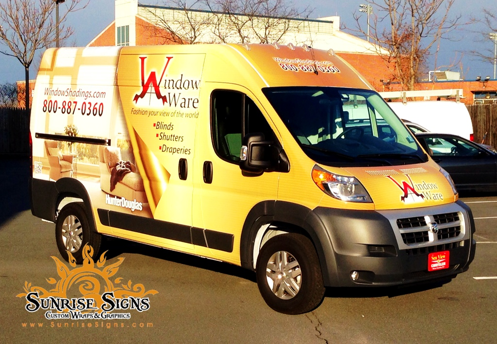 Sunrise Signs Names The Ram Promaster Van Its 2014 Truck Wrap Vehicle