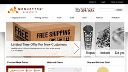 manhattan gold and silver website preview