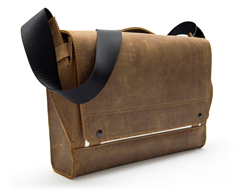 Rough Rider Leather Messenger—pearl accent color