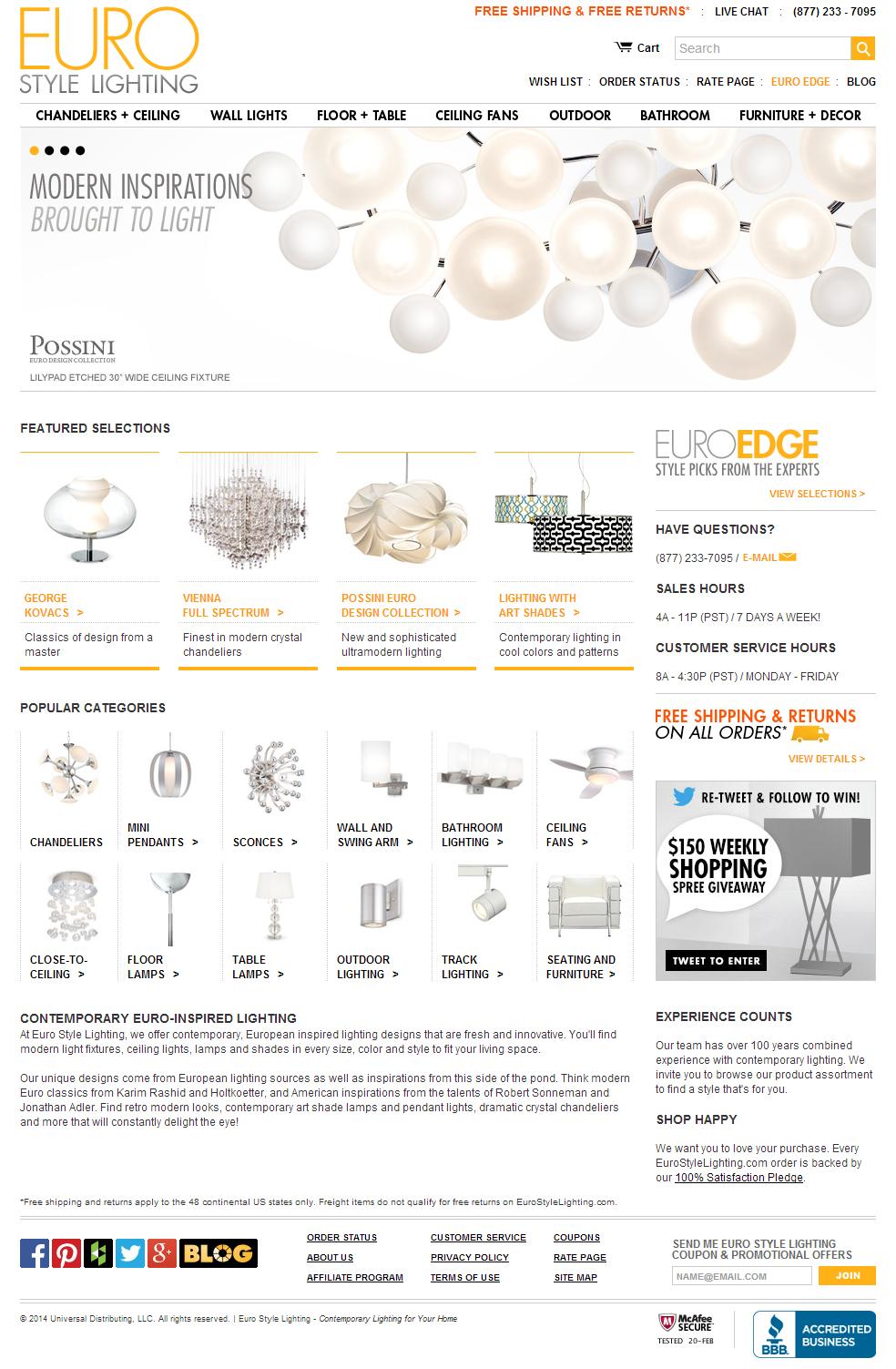Eurostylelighting Modern Lighting And Decor E