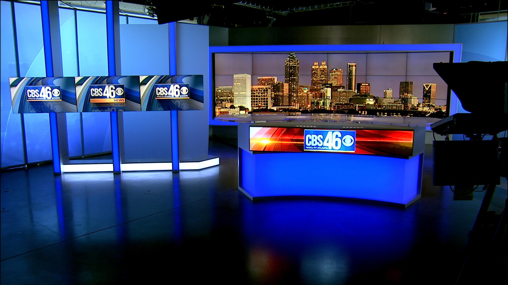 CBS46 Atlanta, Debuts New News Set: FX Design Group Designed