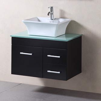 design element madrid 30 wall mount single vessel sink bathroom vanity dec1100a 30 - Wall Mounted Bathroom Vanity