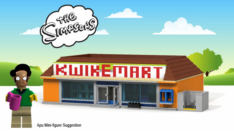 Want To See This The Simpsons Kwik E Mart Cuusoo Made As A Real Lego Set