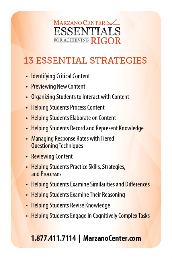 Learning Sciences Marzano Center Launches New Model Of Instruction