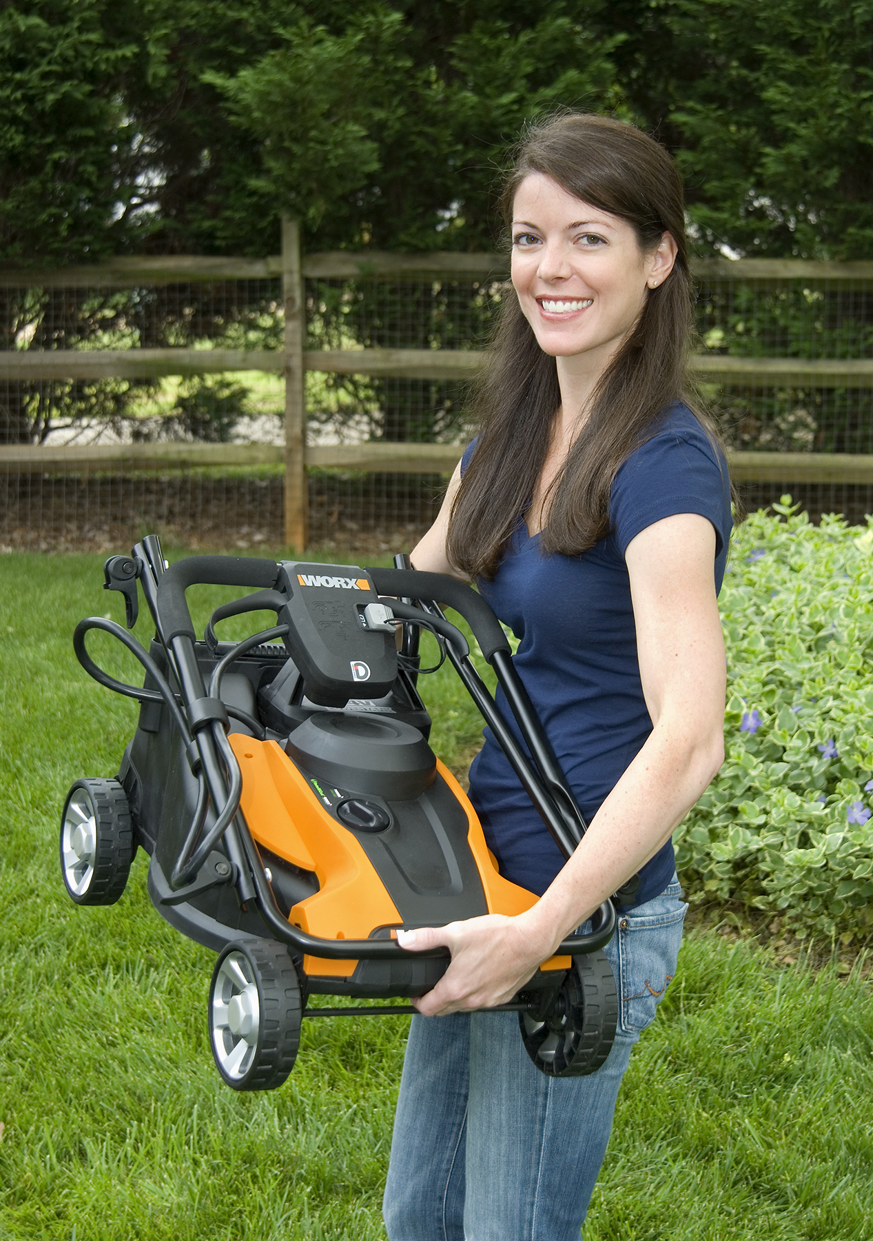 Go Green This Spring With A New Worx Cordless Lawnmower