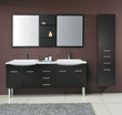 James Martin Solid Wood 71 Double Sink Bathroom Vanity with Legs Espresso 147-519-DB-5831