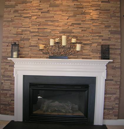 Client Install Faux Stacked Stone Fireplace Wall Product From Fauxpanels