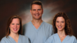From left:   Drs. Catrina C. Crisp; Dr. Steven D. Kleeman; and Dr. Rachel N. Pauls. (Photo Provided)