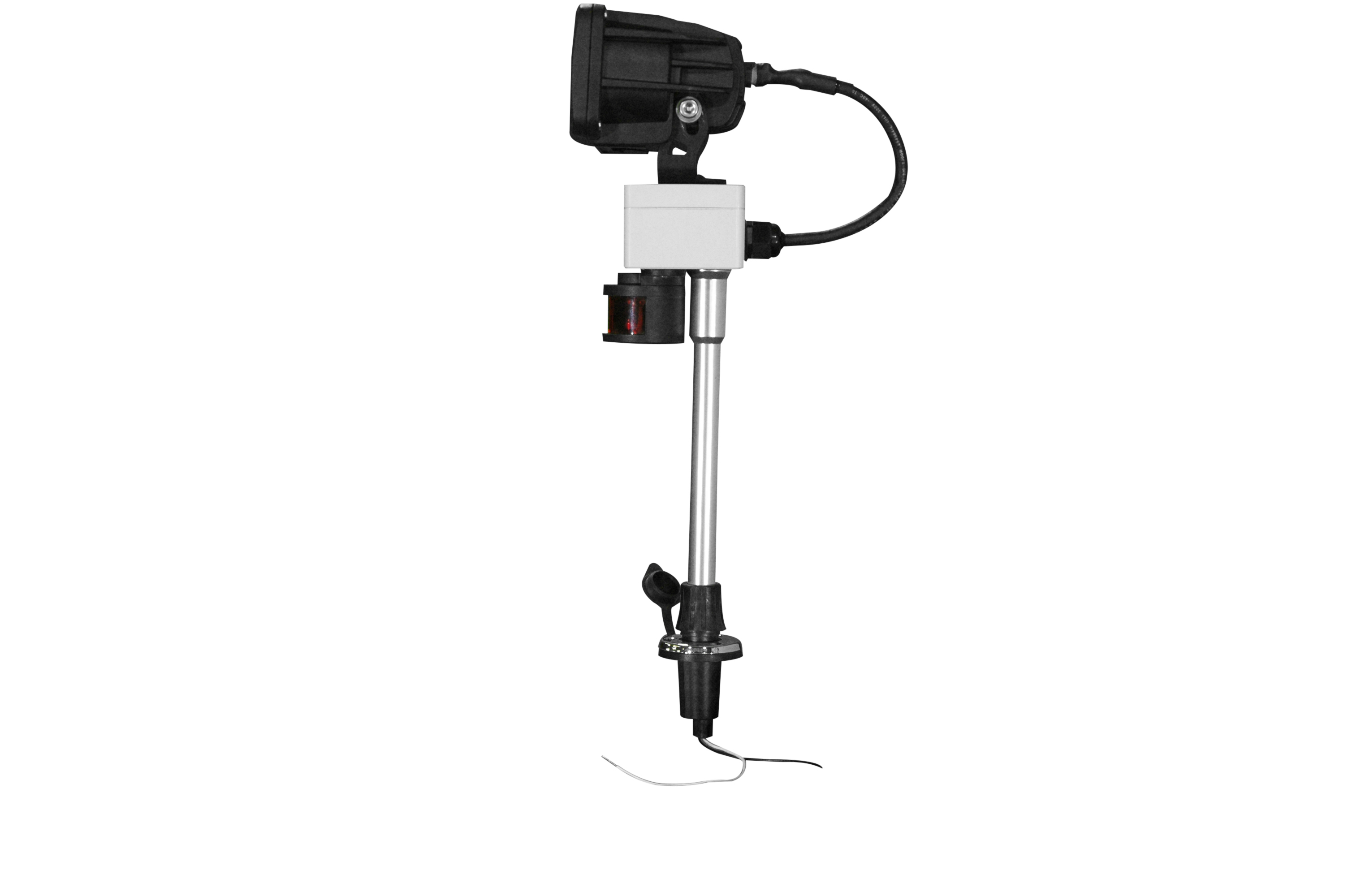 Colored Led Lights >> Larson Electronics Releases a New 20 Watt LED Boat Light with a Perko Pole Mounting System