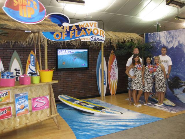 Trade Show Booth : Experiential event entertainment company launches icamsurf