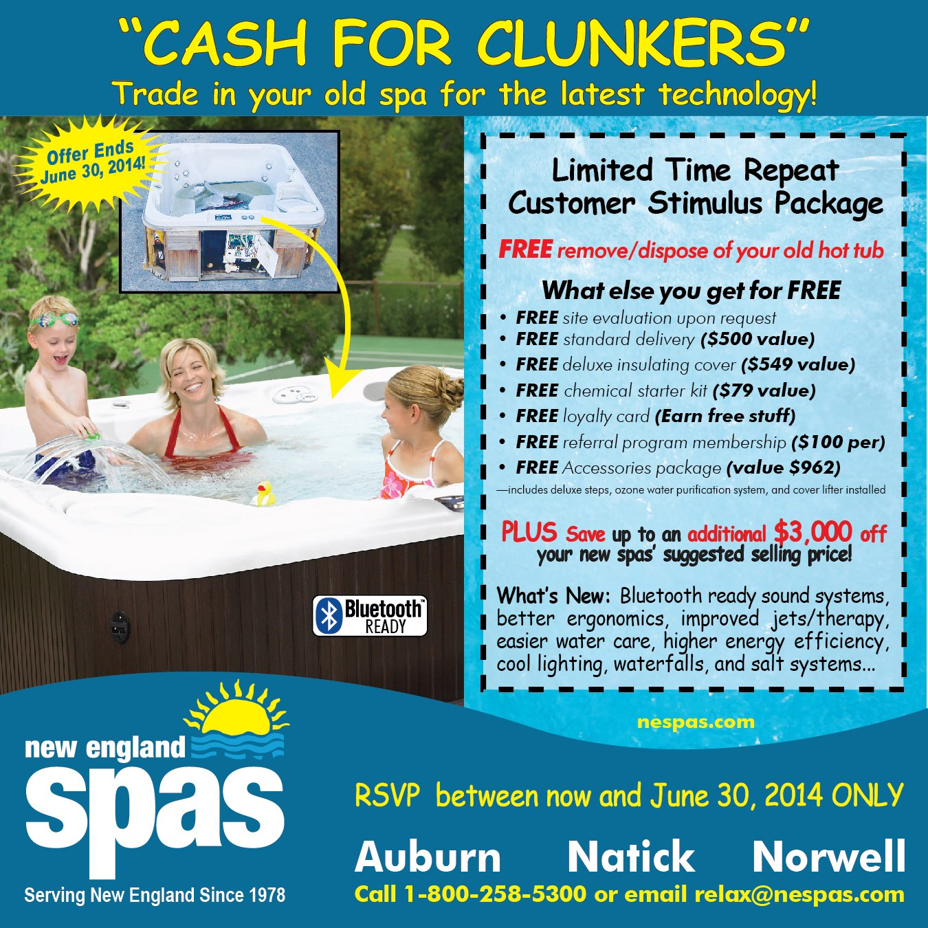 Cash For Clunkers Program Older Hot Tubs Now Available