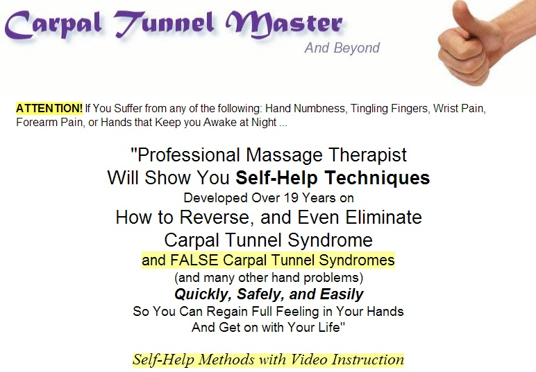 Carpal Tunnel Master Program Review   Discover Hilma Volk's ...