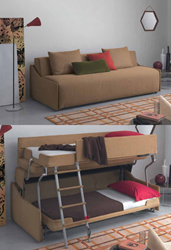 Palazzo bunk bed system from Resource Furniture