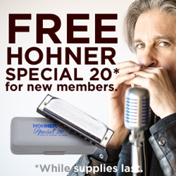 free harmonica for new members of Howard Levy's school