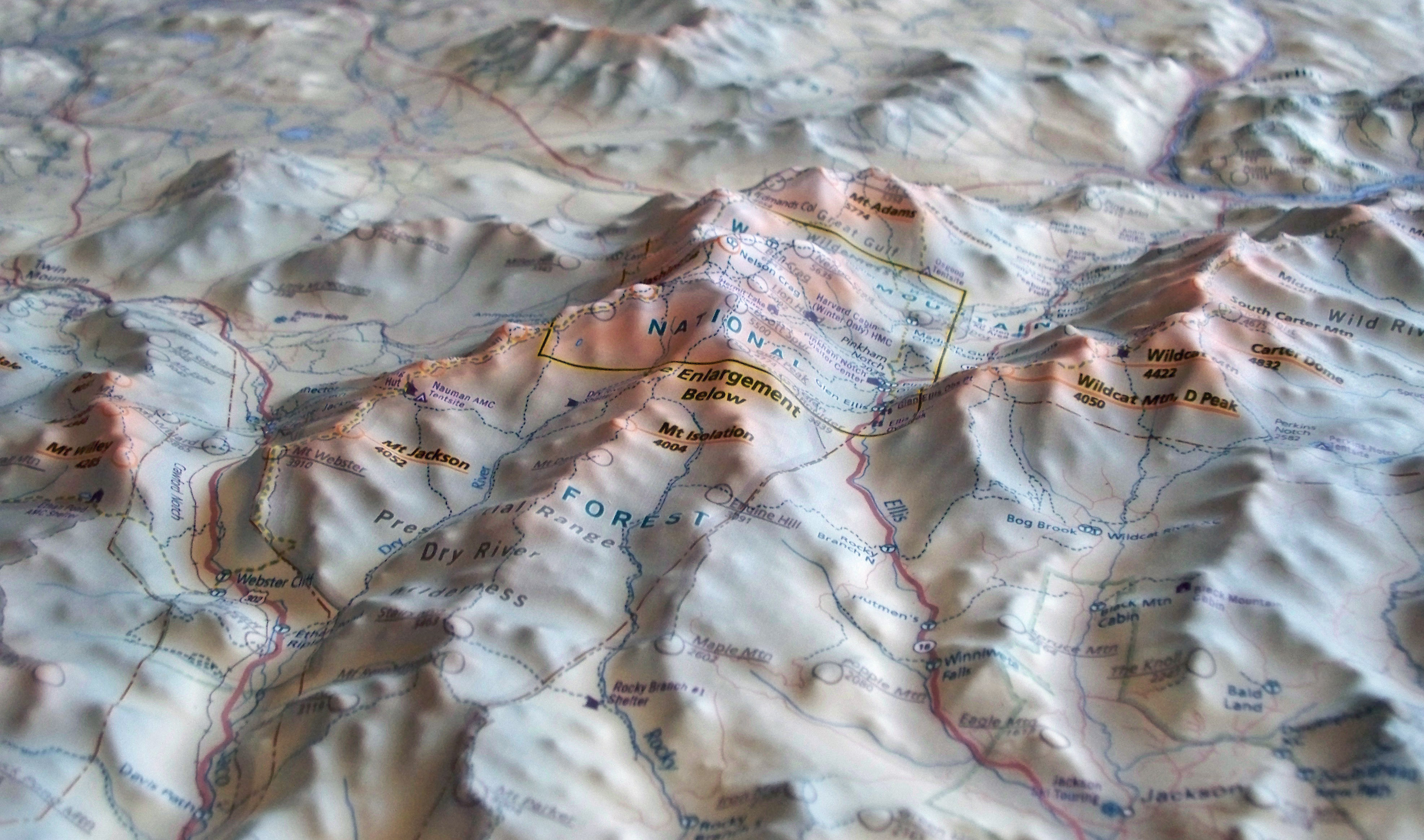 Topographic Map Of A Mountain.Summit Terragraphics Releases The First 3d Topographic Map Of New